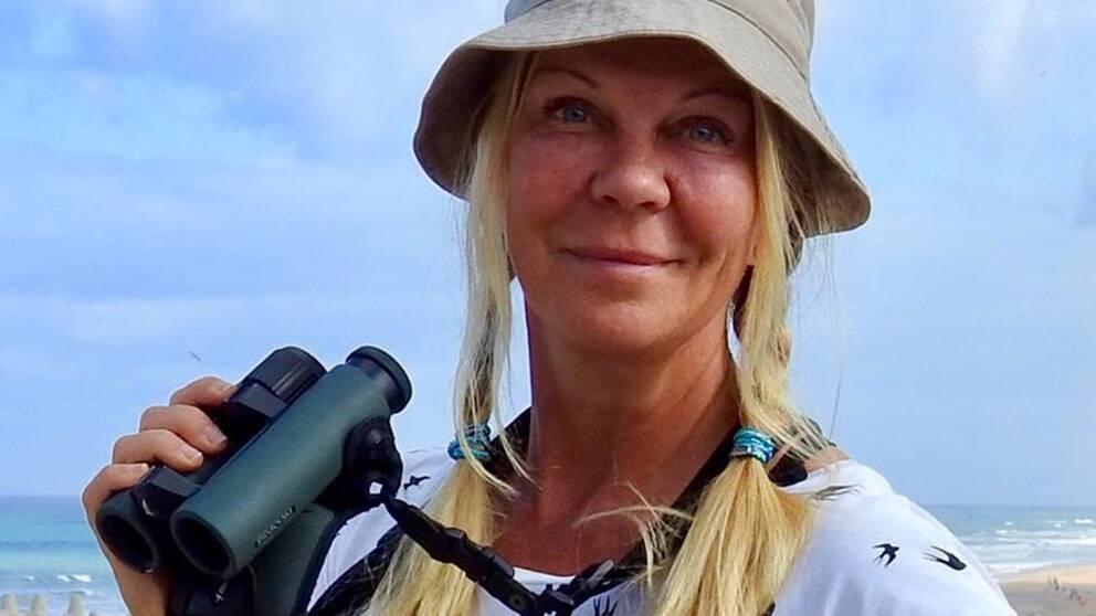 Gigi Sahlstrand är initiativtagare till Rapphönan, ett nätverk för kvinnliga fågelskådare.