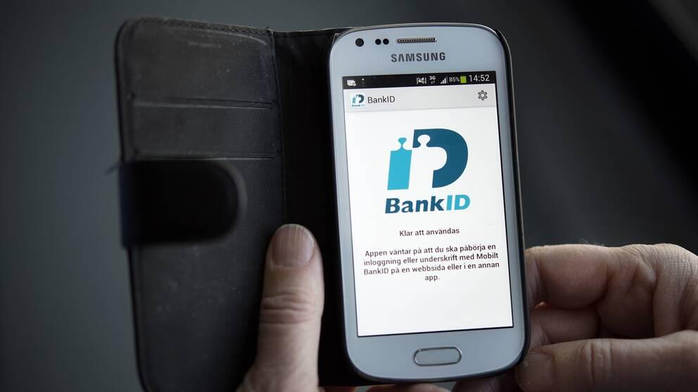 Bild på ett bank-id i mobilen.
