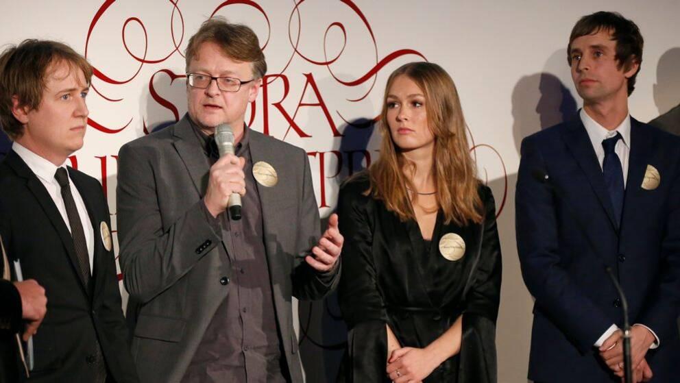 Johannes Hallbom, Dan Josefsson, Anna Nordbeck och Jakob Larsson prisades för sin granskning av Kevin-fallet.