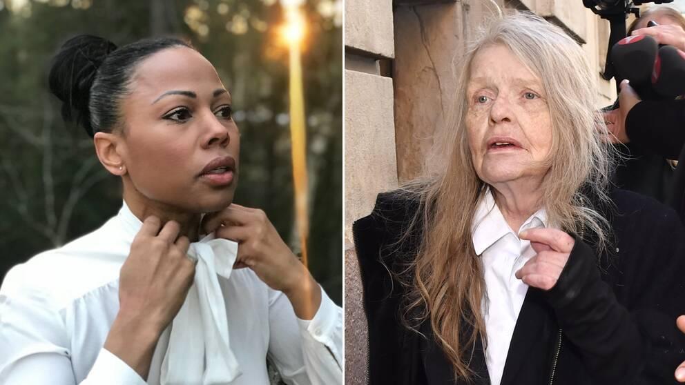 Kulturminister Alice Bah Kuhnke får kritik av Kristina Lugn efter att ha lagt upp en bild på sitt Instagram-konto, iförd knytblus.
