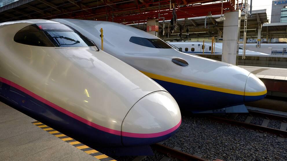 Höghastighetståg i Japan.