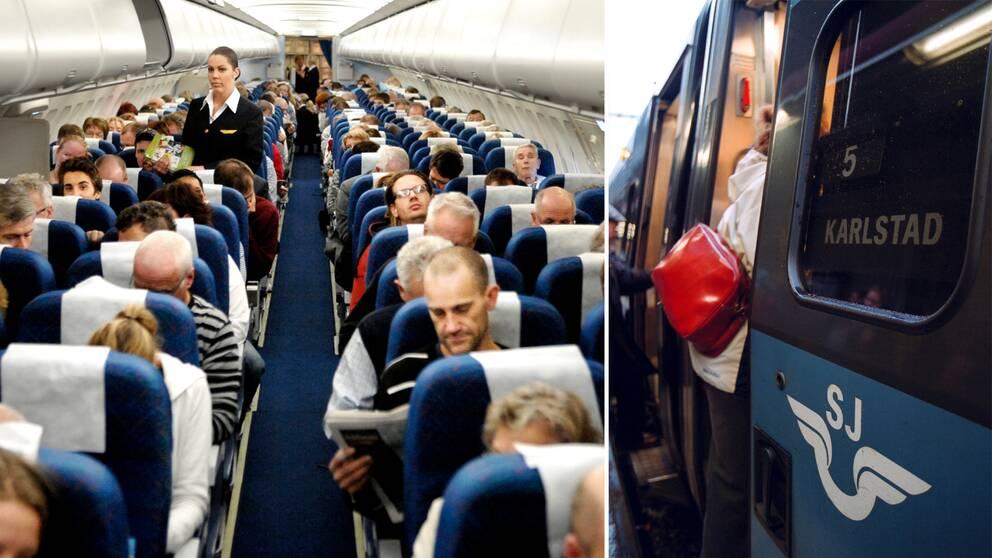 Reser man ensam kan en flygresa vara ett bättre alternativ än bil.