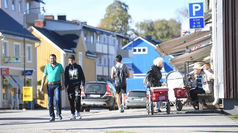 Huvudgatan i Överkalix.