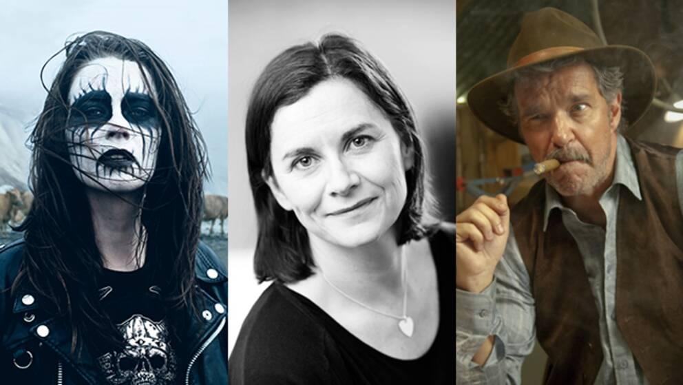 """Cia Edström (i mitten) tror att """"Metalhead"""" (t.v.) kommer gå väldigt bra på Nordic film market i Göteborg. Komedier som """"Åsa-Nisse – Wälkom till Knohult"""" är dock svårare att sälja till utomnordiska gäster."""