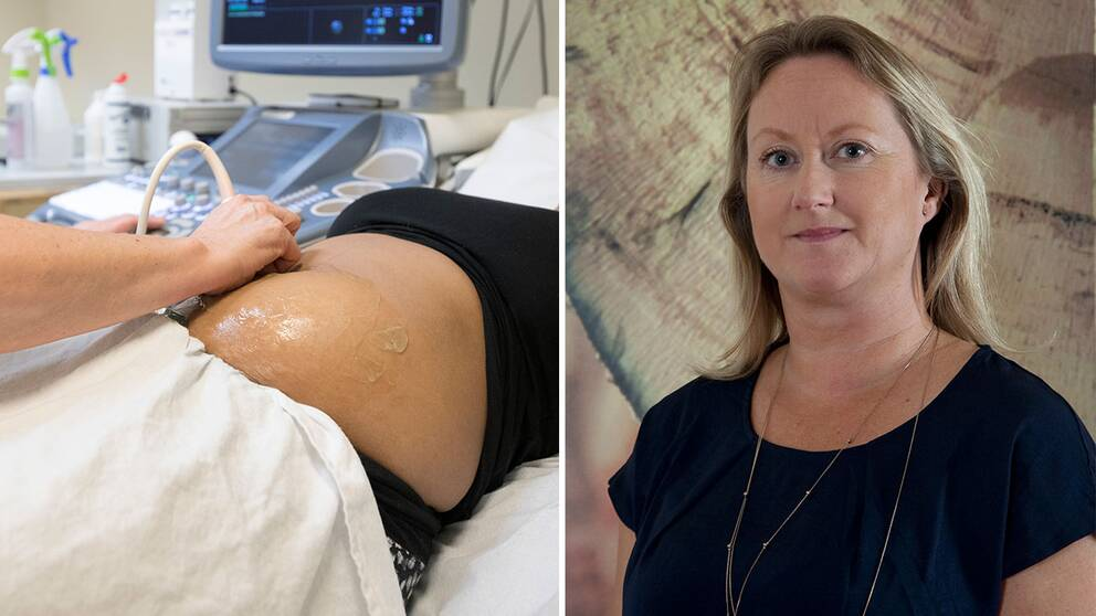 Gravid kvinna undersöks. Porträttfoto Angela Jones, Spädbarnsfonden.