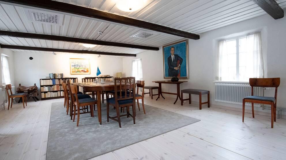 Mötesdelen i nyrenoverade Backåkra.