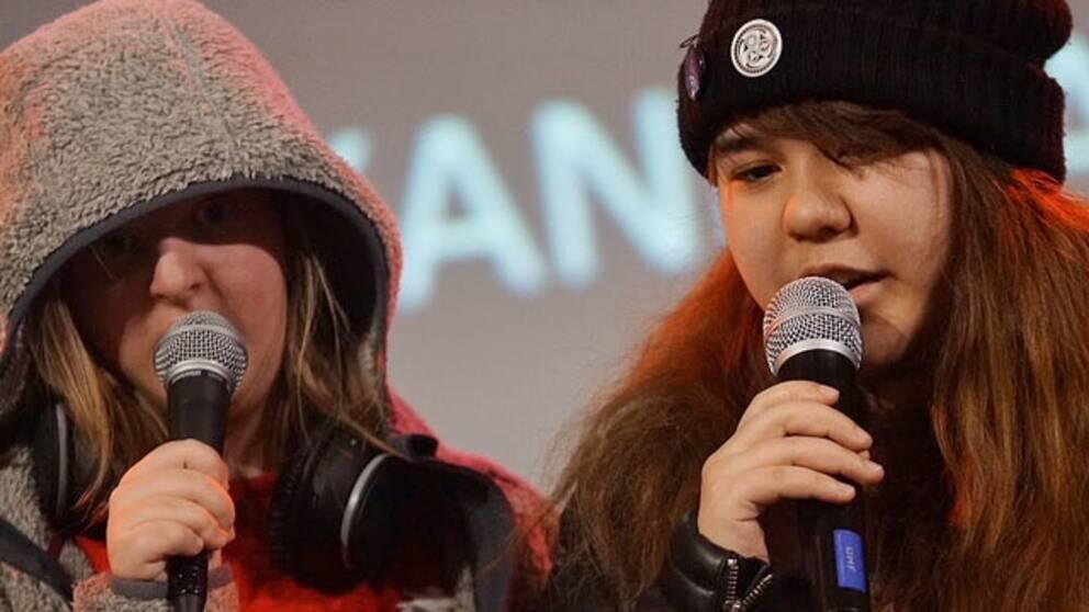 Alexandra Hansson och Michelle Sandell