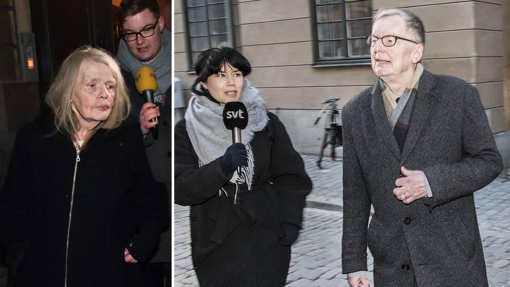 Svenska Adademiens ledamöter, med bland andra Kristina Lugn och Anders Olsson, möttes som vanligt under torsdagen – men inte likt föregående vecka i Börshuset, utan på hemlig plats.