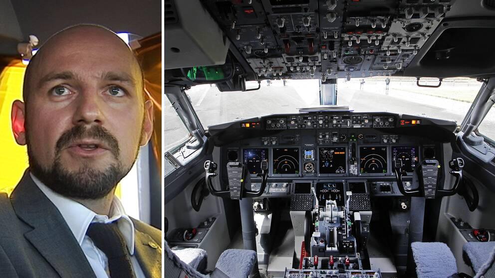 Piloternas psykiska hälsa kan påverka flygsäkerheten negativt, berättar Pilotföreningens ordförande Martin Lindgren.