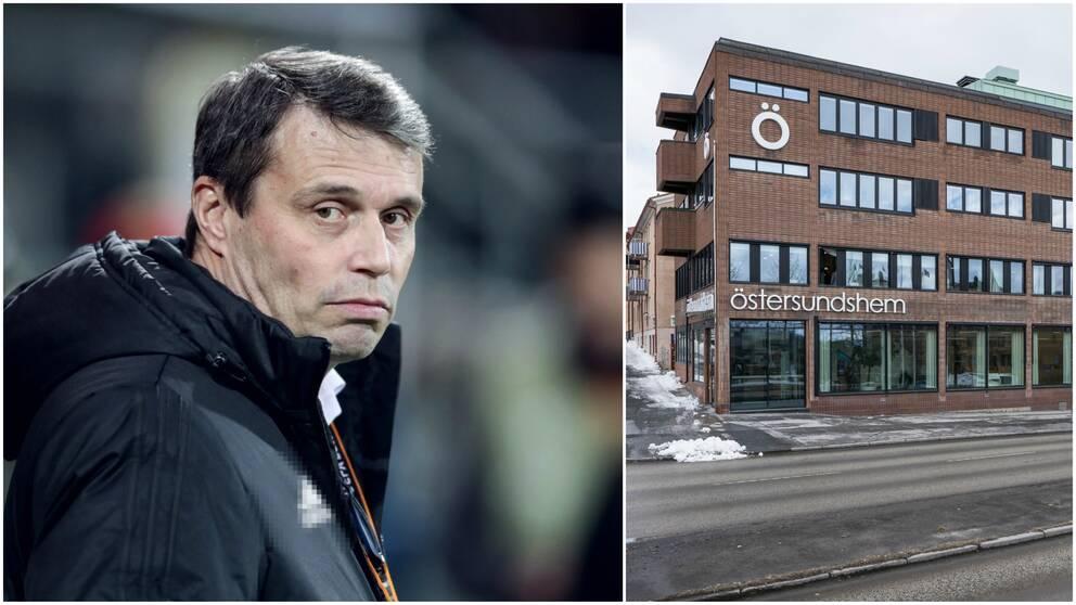 Ett kollage där en bild är Daniel Kindberg och den andra en fasadbild från Östersundshems kontor.