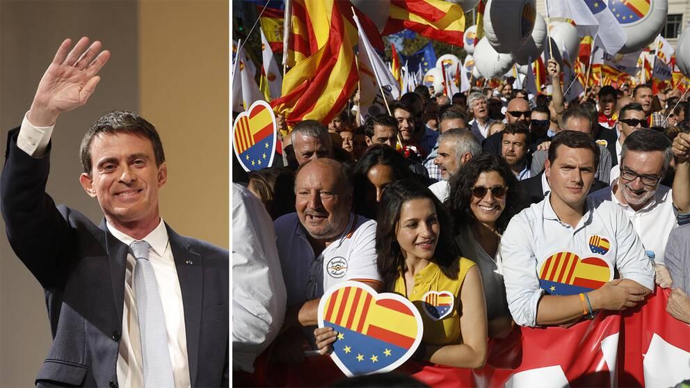 Franske Manuel Valls kan bli ciudadanos borgmästarkandidat i Barcelona.