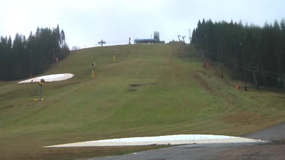 Det var svårt att utöva vinteridrott i södra Sverige oi början av januari. Så här så det ut i Isaberg i västra Småland den 2 januari.