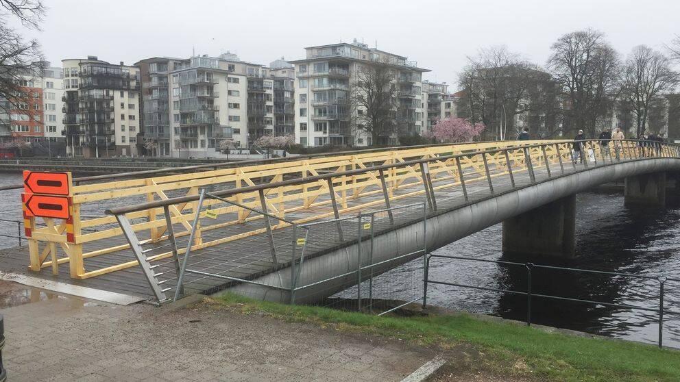 Gamletullsbron i centrala Halmstad.