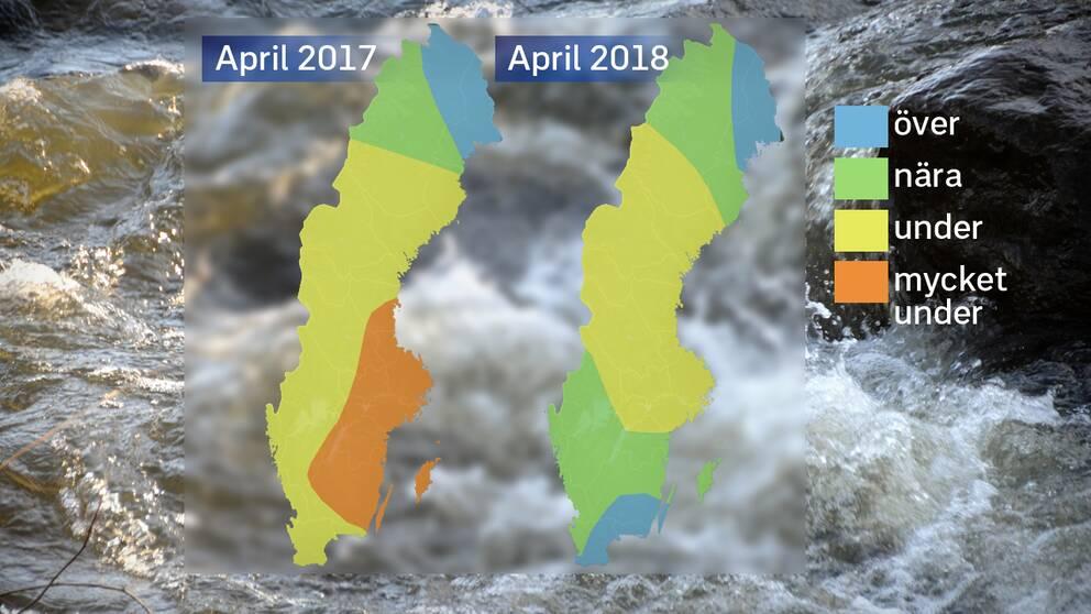 Grundvattennivåerna ligger betydligt bättre än förra årets. Det finns fördelar med årets stora snömängder också.
