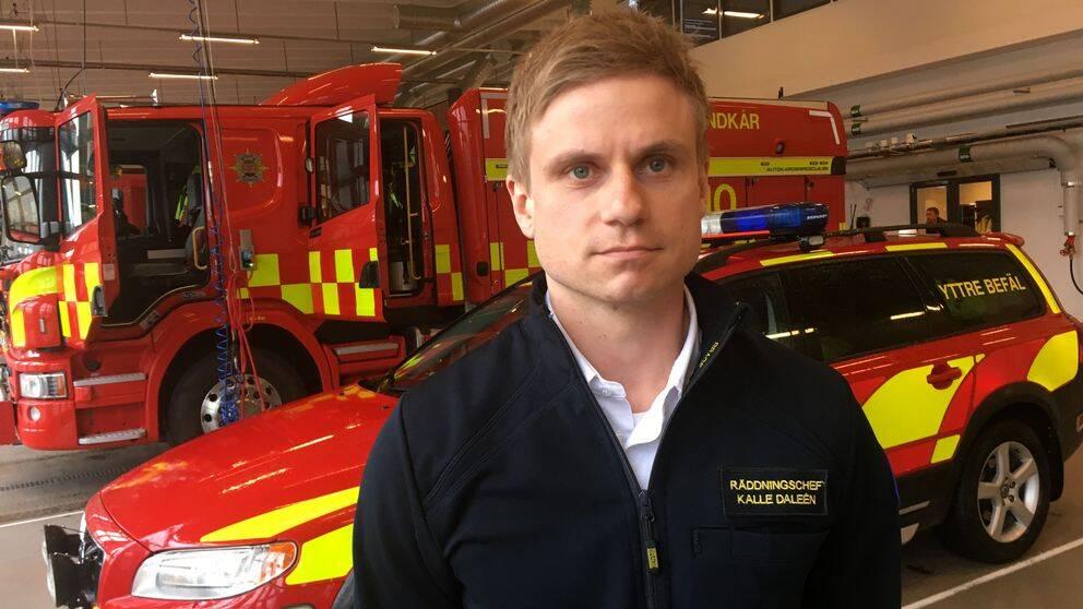 Kalle Daleén, räddningschef i Kalmar kommun.
