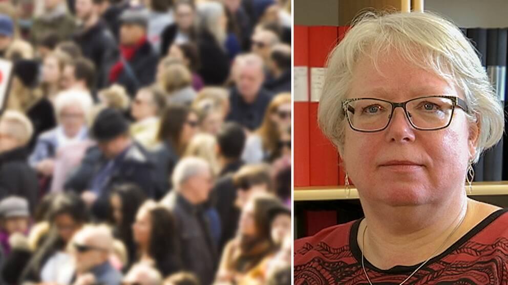 Carina Melander, huvudskyddsombud på Kommunals vård- och omsorgssektion i Sundsvall