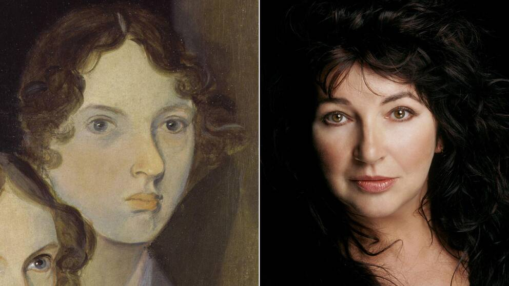 Ett porträtt av Emily Brontë målat av hennes bror Patrick Branwell Brontë, och popsångerskan Kate Bush