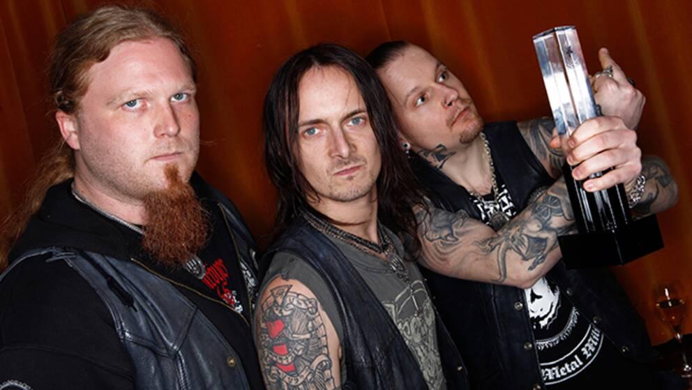 Bandet Watain – här med en Grammisstatyett från 2011.