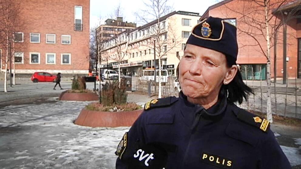 Eva Öberg Öström är kommunpolis i Skellefteå.