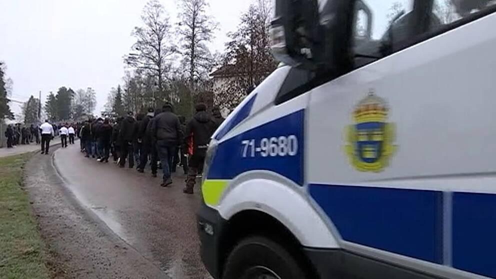 Demonstranter vann mot polisen 3