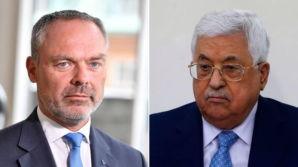 Jan Björklund (L) och Palestinas president Mahmoud Abbas.