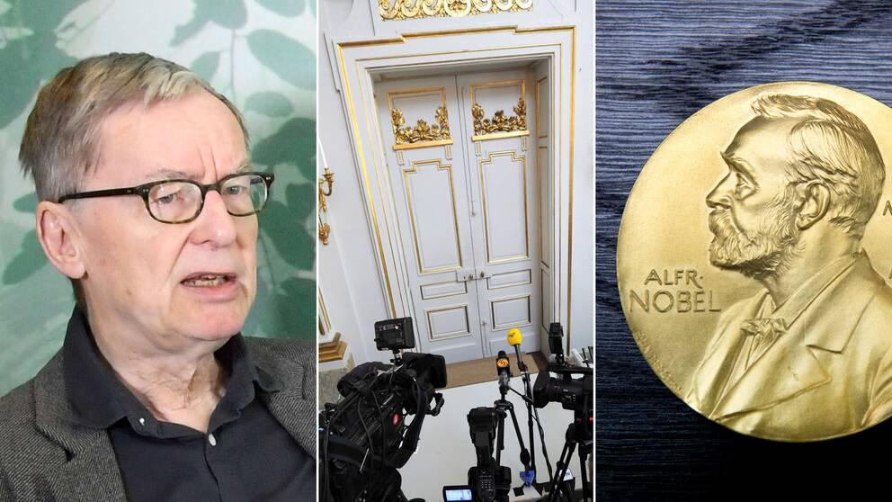 Anders Olsson, interiör på börshuset och Nobelpriset