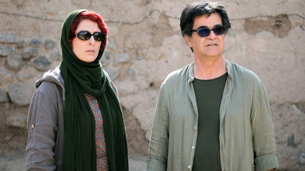 Skådespelaren Behnaz Jafari och filmskaparen Jafar Panahi som gjort Three faces.