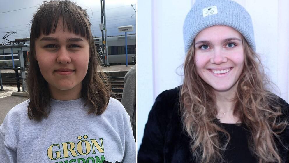 Både Miriam Holmgren (MP) och Alice Erlandsson (M) debuterar i riksdagsvalet 2018 – samma år de båda fyller 18 år.