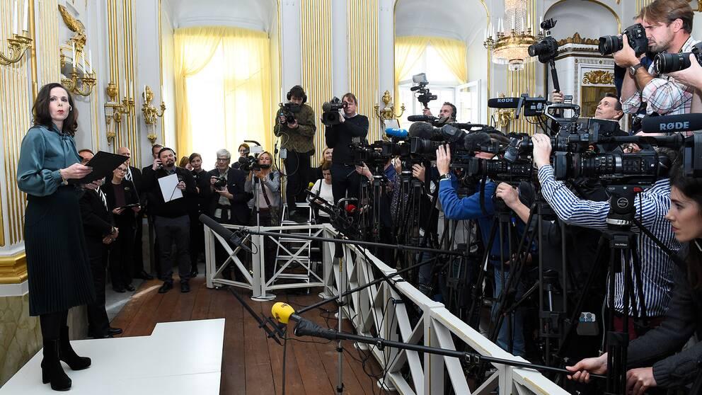 Förra årets tillkännagivande av Nobelpristagare.
