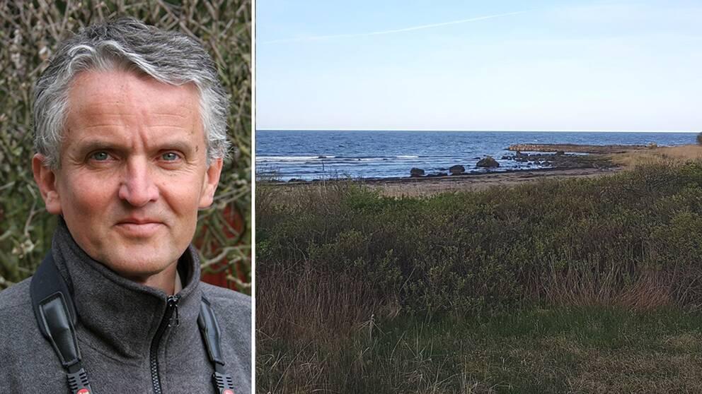 Anders Wirdheim och stranden vid Ringenäs.