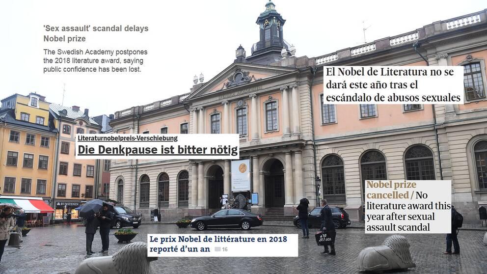 Flera internationella dagstidningar har rapporterat om det uteblivna Nobelpriset.