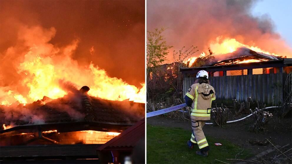 Skola i partille i brand byggnad overtand