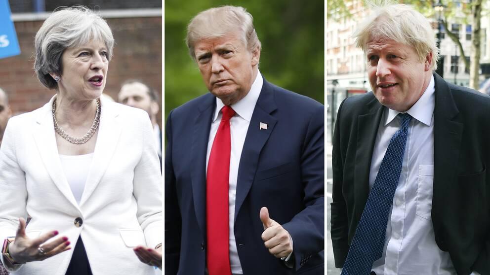 Storbritanniens premiärminister Theresa May och utrikesminister Boris Johnson hoppas nu kunna övertyga Donald Trump och USA att inte dra sig ur kärnenergiavtalet.