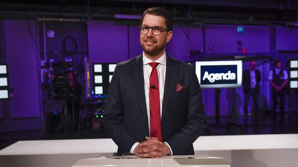 Jimmie Åkesson, partiledare för Sverigedemokraterna.