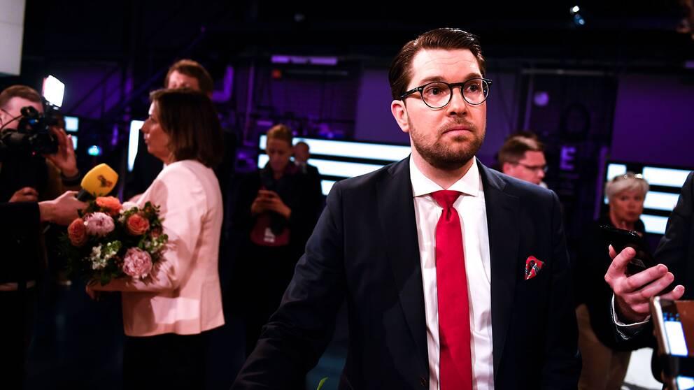 Jimmie Åkesson (SD) i SVT:s partiledare
