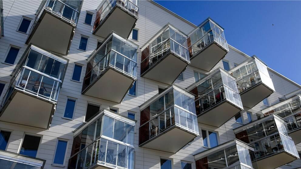 Nybyggda lägenheter i området Annedal.