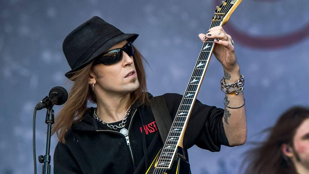 Alexi Laiho från finska metalbandet Children of Bodom.