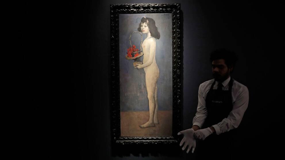 Flickan med blomsterkorgen av Picasso.