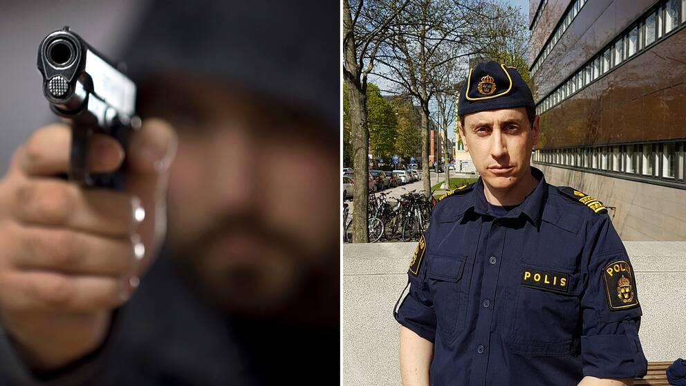 Antalet skjutningar minskar drastiskt i Sverige. Christoffer Wedelin, operationschef för polisen i Stockholms norra förorter, menar att de ökade polisiära insatserna mot kriminella nätverk spelar in.