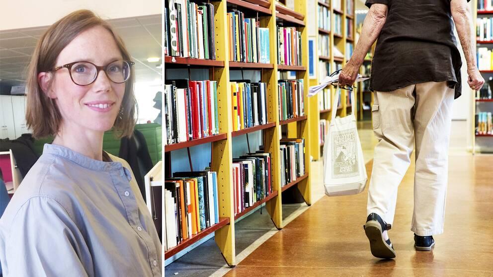 Bibliotekariernas ägnar mer tid åt it-support än vägleda besökare till litteratur, säger Stina Hamberg, samhällspolitisk chef på bibliotekariernas fackförbund DIK.