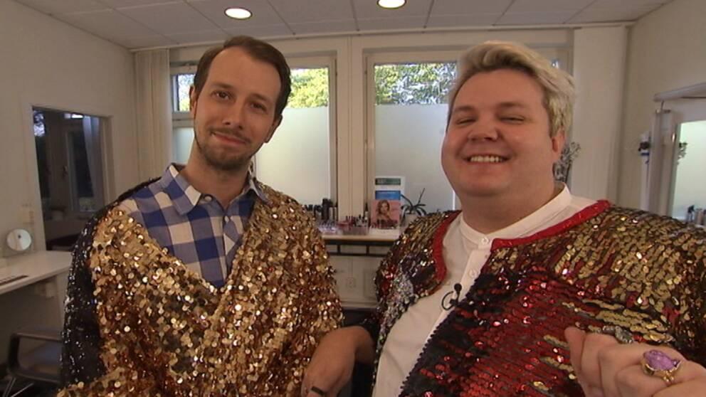 Fab Freddie ger sina tre bästa tips till SVT:s vardagliga reporter Johannes Björklund.