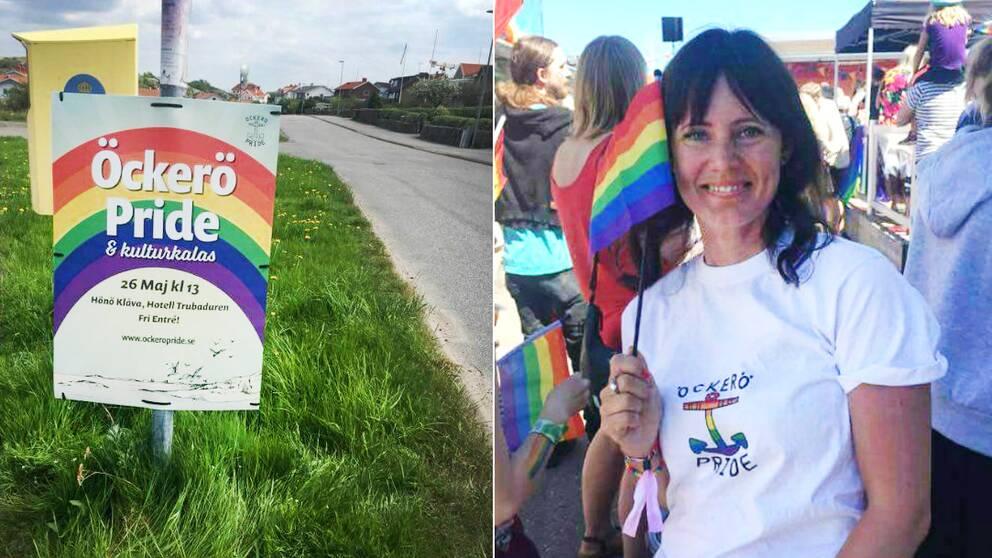 Inför Öckerö Pride och kulturkalas sattes en 15-tal affischer upp. Affischer som redan morgonen efter rivits ner och försvunnit.