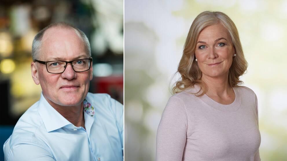 Olov Holst (M) och Marie Axelsson (S).