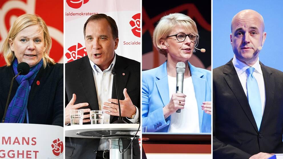 Socialdemokraternas Magdalena Andersson och Stefan Löfven har tillsammans med Moderaternas Elisabeth Svantesson och Fredrik Reinfeldt varit några av den svenska toppolitikens största profiler under svängningen
