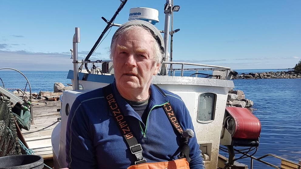 Yrkesfiskare Carl-Åke Wallin.