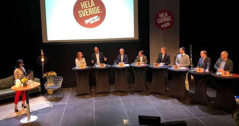 Partiledardebatten under lördagen, huvudnumret under landsbygdsriksdagen i Örnsköldsvik i helgen.