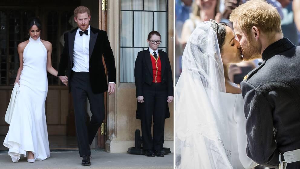 f3d7785d7b02 Hertigen och hertiginnan av Sussex på väg till mottagning efter bröllopet.
