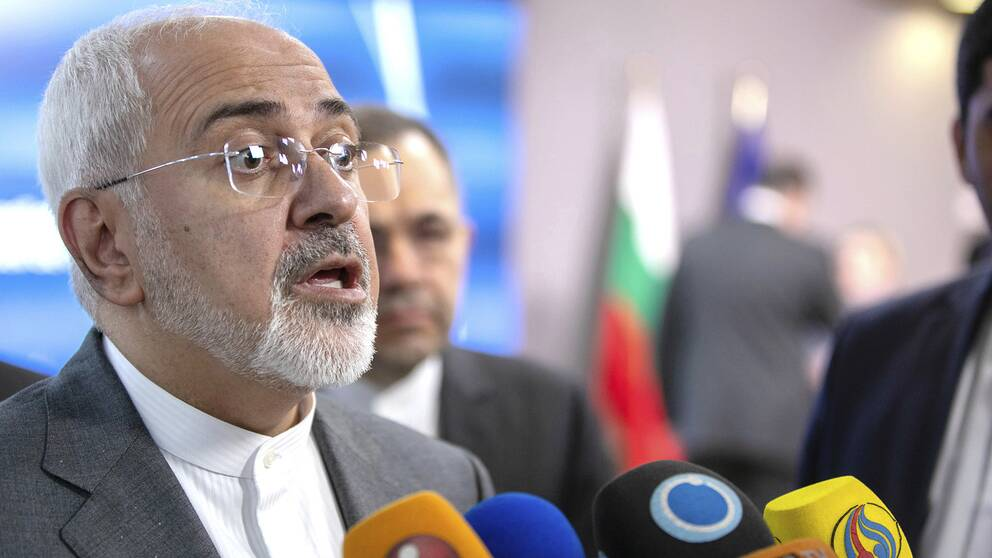 Irans utrikesminister Javad Zarif sätter press på EU att se till att företag stannar kvar i Iran. Arkivbild från 15 maj.