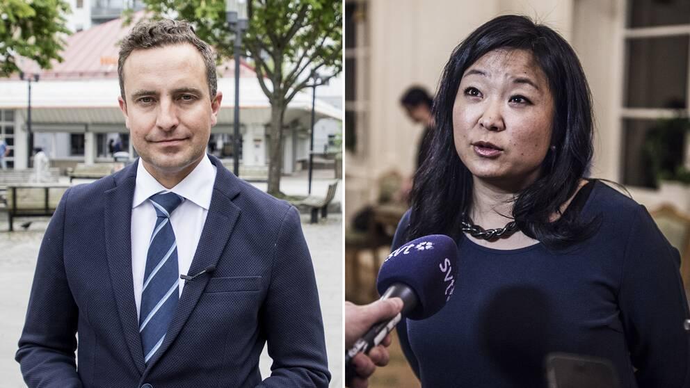 Moderaternas rättspolitiska talesperson Tomas Tobé och Jessica Polfjärd, jämställdhets- och integrationspolitisk talesperson för partiet.