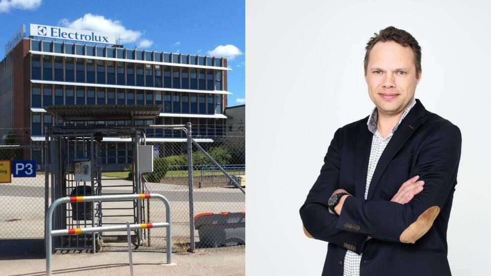 Patrik Tedsjö vd för Wood´s flyttar in i gamla Electrolux i Mariestad.
